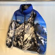 FIRST DOWN MOUNTAIN PRINT REVERSIBLE DOWN JACKET