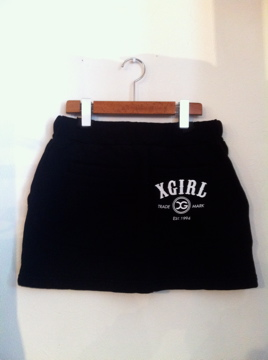 X-girl VARIOUS SWEAT SKIRT