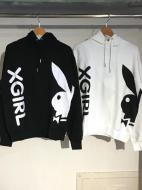 X-girl×PLAYBOY SWEAT HOODIE