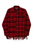 BAL FRINGE BROCK FLANNEL SHIRT(blu,red)