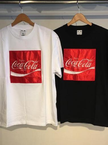 X-girl COCA-COLA BY X-GIRL SATIN PATCH S/S BIG TEE