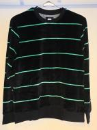 STUSSY Striped Velour Crew