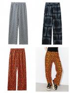 X-girl MULTI PATTERN EASY STRAIGHT PANTS