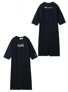 X-girl × CHAMPION B/B TEE DRESS
