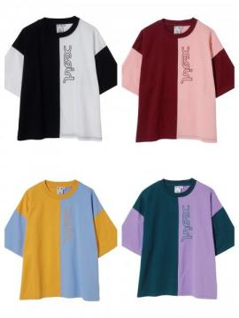 X-girl COLOR BLOCK S/S TEE