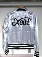 X-girl SATIN VARSITY JACKET