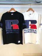 X-GIRL X RUSSELL ATHLETIC BIG LOGO TEE