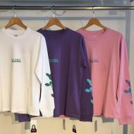 X-girl ROSE L/S REGULAR TEE