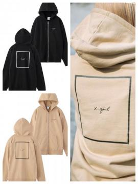 X-girl CURSIVE LOGO ZIP UP SWEAT HOODIE