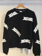 X-girl Sports CREWNECK SWEAT OBLIQUE LOGO