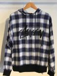 STUSSY WOMEN Stock Plaid Hoodie