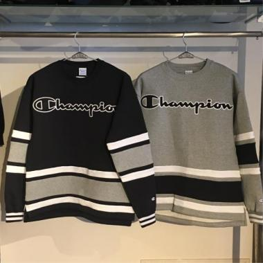 XLARGE×CHAMPION LINED CREW NECK SWEAT