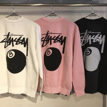 STUSSY 8 Ball Pigment Dyed Crew