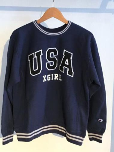 X-girl×CHAMPION REVERSE WEAVE SWEAT SHIRTS