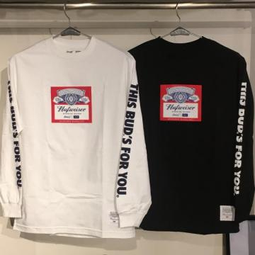 HUF BUDWEISER LABEL L/S TEE