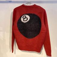 STUSSY 8 BALL HEAVY BRUSHED SWEATER