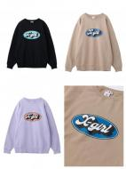 X-girl OVAL LOGO CREW SWEAT TOP